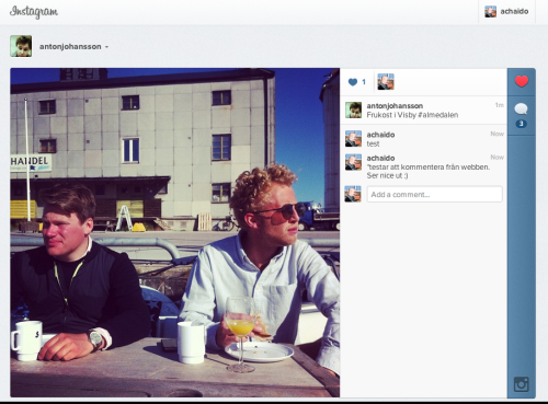 Just realised you can now comment on Instagram photos from the web. Nothing revolutionary, but for users who've come to this page for a long time, not being able to react it's a relieve to finally being able to comment or like directly and not having to pull up your phone.