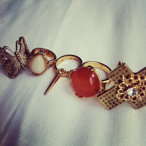 Accessory heaven #missselfridge #rings (Taken with Instagram)