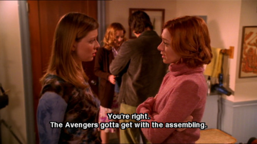The Avengers reference in Buffy The Vampire Slayer. (vía @freakscity)