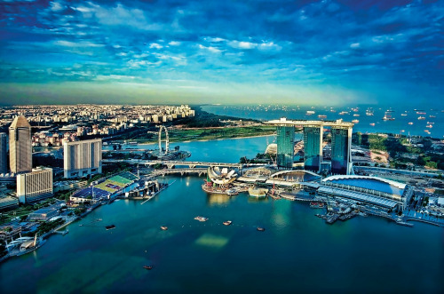 when-the-shutter-opens:  Another aerial view update of Marina Bay By williamcho on Flickr.