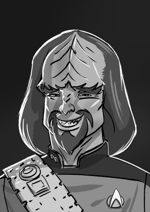 scarlettjen:  Best Worf expression ever!  Hello ladies… #StarTrek peteyong:  Man! I think I totally nailed what this character is about with this drawing!