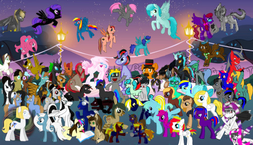 Well that's that, thanks again to everypony that participated. This was a lot of work and I believe Lauren Faust will love it. If you are like a last last-minute submission person, there is still an hour left X-)