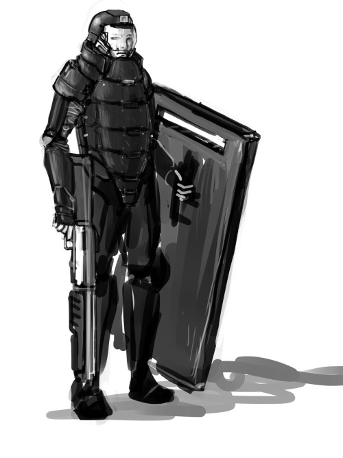 Peacekeeper unit from Red Alert 3 Photoshop CS5 40 min