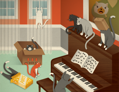 Famous Cats by Jessica Hische