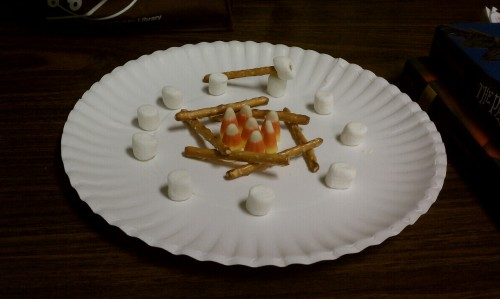 The (edible) craft we did for camping week at the library.