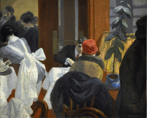 catonhottinroof:  Edward Hopper, New York Restaurant, 1922.