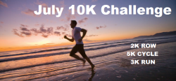 The July 10K Challenge! Please help spread the word and get involved in 'itsjustanotherweightlossblog's' July 10K Challenge! Full information can be found on our Facebook Page. The goal is to complete a 2K row, 5K cycle and 3K run as fast as you can, in that order. The clock starts from the first pull on the rower and finishes at the end of the 3k run. You are free to take breaks but the clock will still be ticking! Anyone interested in joining the challenge please like the facebook page, check it out and get involved. Introduce yourself, post your results from the beginning of July and the end of July of how fast you complete the challenge. The will be a biggest improver (male and female) and fastest 10K winner (male and female.) It's time for non scale victories in July 2012, so get involved now! Feel free to message me here or write on the facebook page if you have any questions!