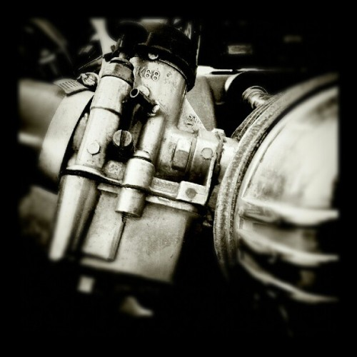 Chromework engine - taken with #GalaxyNote on #Android #Instagram #Dailyphoto @instagram #SGN #Photodaily #Metal #Bike #Bucharest #BW (Taken with Instagram at IBM Romania)