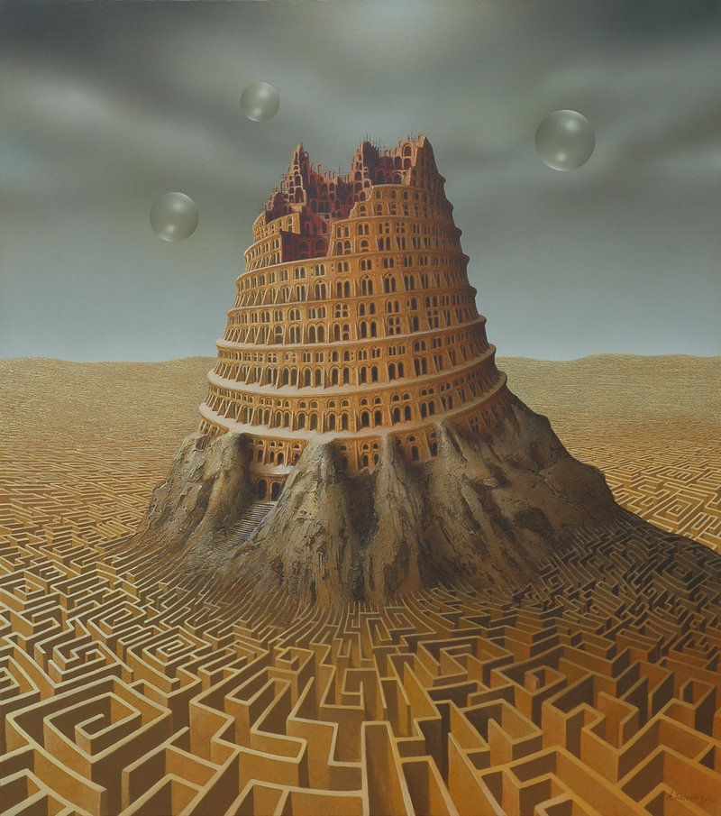 Tower of Babel by ~AndreasZielenkiewicz  Now there's a challenge..