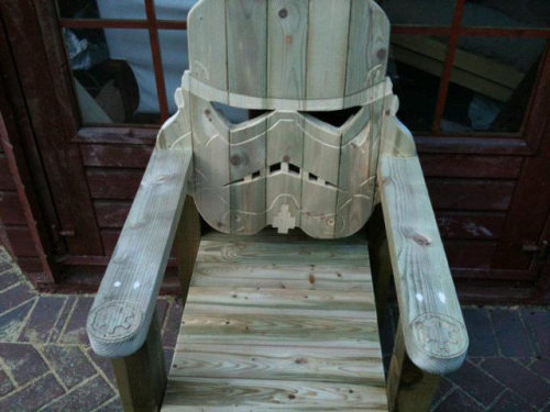 Stormtrooper Chair by GotWood Workshop