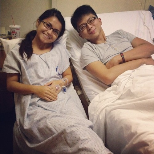 The real patient, @jian_choa!☺ (Taken with Instagram at St. Luke's Medical Center)