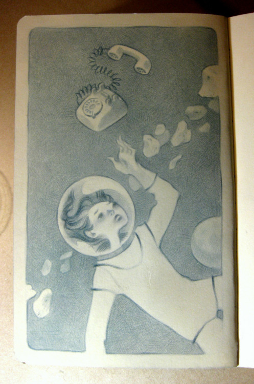 Space. Last week's Illustration Friday. Why is there a telephone?
