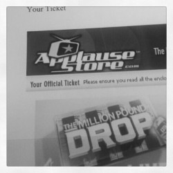 Million pound drop tickets arrived! (Taken with Instagram)