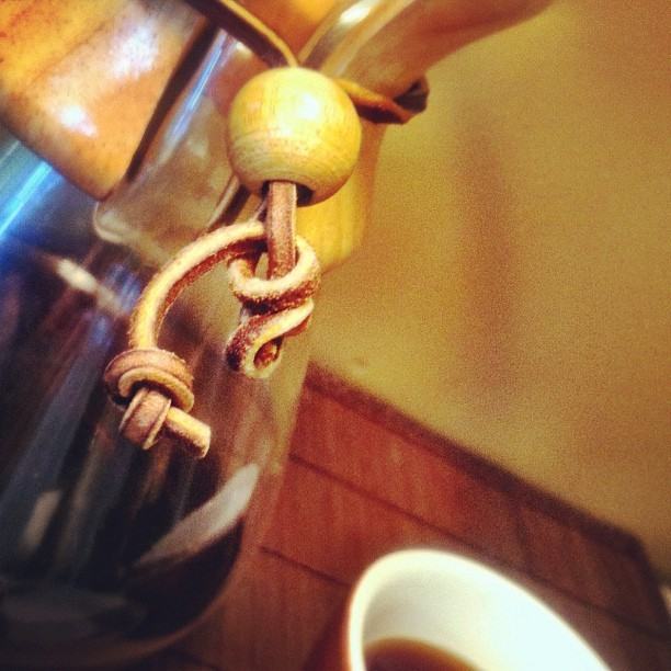 Starting a hot, steamy morning with a hot, steamy Chemex. Ethiopia (Amaro Gayo) from Deeper Roots. 30g | 500mL (Taken with Instagram)
