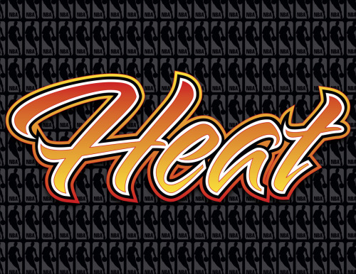 Adobe Illustrator CS4 • Miami Heat wordmark