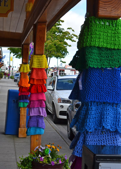 paulagold:  International Yarn Bombing Day - Sequim, Washington