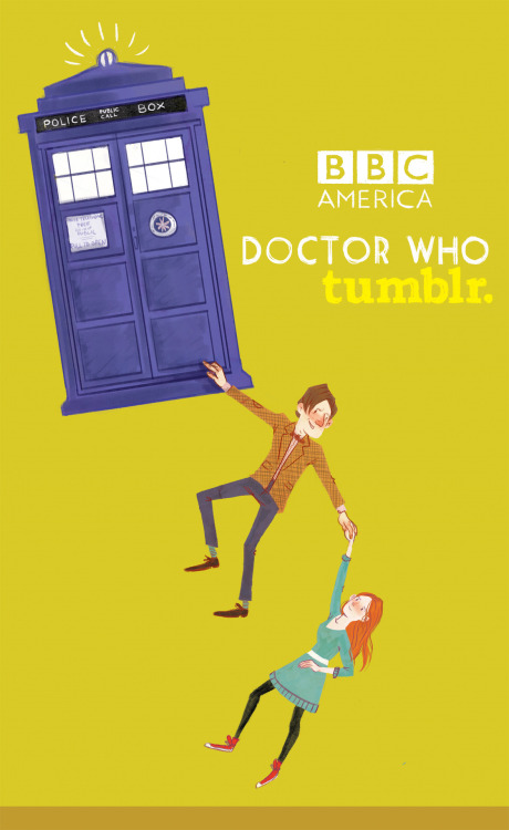 Congratulations to Amanda Scurti, the winner of the Doctor Who Tumblr Meetup Art Contest! So after two weeks of scrutiny and expert judging we have a winner! There were so many good entries that we had a hard time picking just one but Amanda's illustration of the TARDIS, The Doctor, and Amy won our hearts and the side of our tote bags! (It's also her birthday today so Happy Birthday Amanda! You won!) btw, we are serious when we say that there were SO MANY GOOD ENTRIES. We loved them so much that we'll be displaying the finalists (along with their Tumblr names) at the Doctor Who Tumblr Meetup on Saturday!