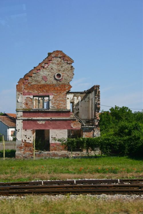 House destroyed in the war Croatia