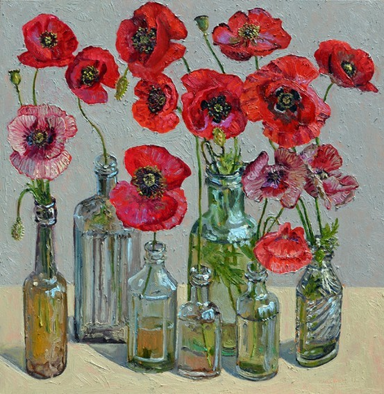wasbella102:  Poppies by Lucy Culliton.