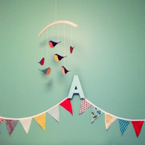 A little peek at Adam's nursery decor.  (Taken with Instagram)