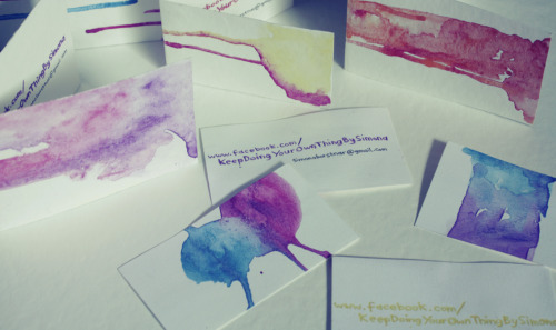 new business cards I did today :)