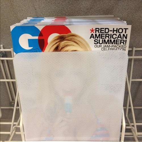 Apparently Kate Upton n GQ are too hot for the store (Taken with Instagram)