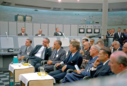 spuzzlightyeartoo:  1962 … JFK at Cape Canaveral by x-ray delta one on Flickr.