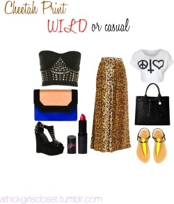 Cheetah Print Wild or Casual by athickgirlscloset featuring a bustier shirt