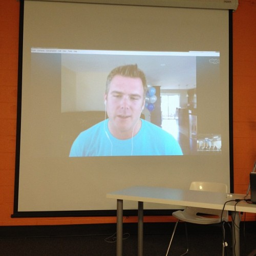 @danmartell talking with us this morning (Taken with Instagram at NEXT Innovation Center)