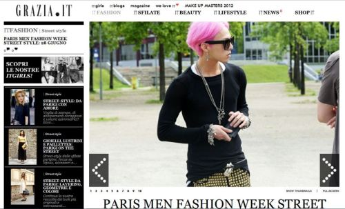 "deenovan:  [PHOTOS][Screencap] G-dragon featured on Grazia.it ""ITFashion: Street Style""GD"