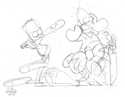 Bart, Homer and Sideshow Bob