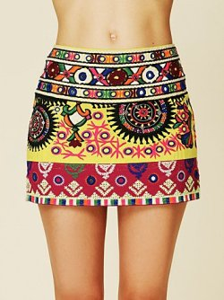 Hippy chic Rajasthan Folkloric skirt ~ India, Free People