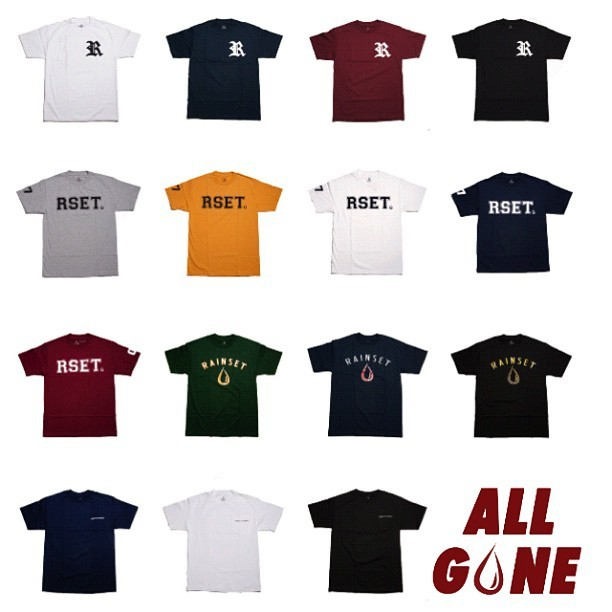 Rain Set Spring 12' Major League Collection officially #SOLDOUT Thanks to everyone who supported us on our debut line. #rainset #allgone #rset #floodgang #slang  (Taken with Instagram)