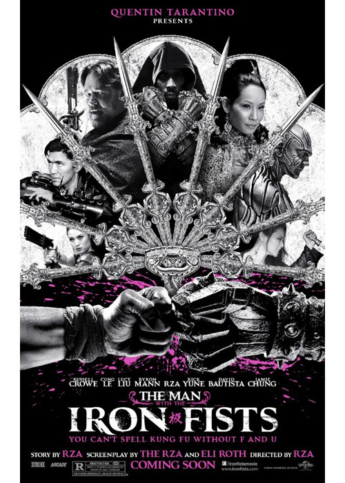 "somaroy:  pitchfork:  Watch the trailer for The Man With the Iron Fists, co-written and directed by RZA, and featuring what must be the tagline of the year: ""You can't spell kung fu without F and U.""  Russell Crowe, an Academy Award winning actor, is in a movie directed by RZA, written by RZA and Eli Roth, produced by Quentin Tarantino. This is the must see movie of the season, whenever that is, obvi."