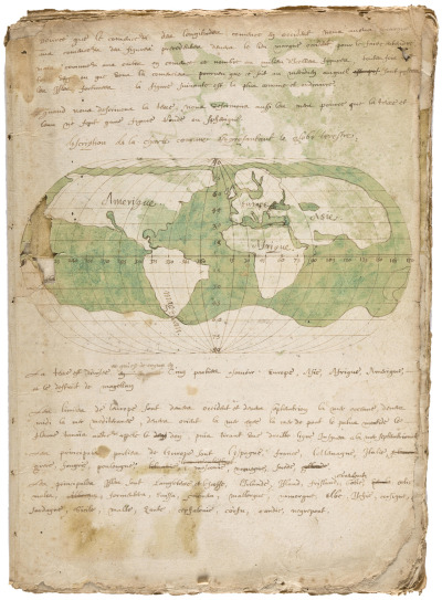 Manuscript geographical treatise of the world, France, Paris, circa 1565 [+]