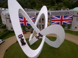 The 2012 Goodwood Festivsal of Speed sculpture celebrating Lotus' F1 career.