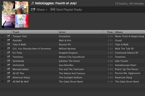 Thanks @hellogiggles for featuring Timelines on your 4th of July playlist!  hellogiggles:  Playlist Of The Week: FOURTH OF JULYby Corinne Caputo