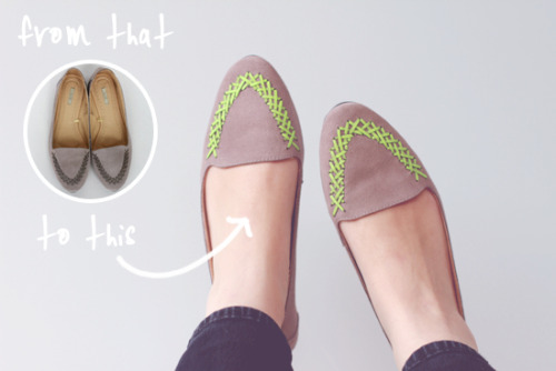 neon flats DIY | papernstitch