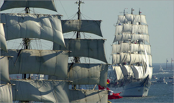 Where to watch the tall ships in Boston  Here's our round-up of some places to watch the tall ships and naval vessels in town. And for more about the event, like where to park, information on the ships, and guidelines for touring the vessels, here's our guide to the tall ships in Boston.  (David L. Ryan/Globe Staff)