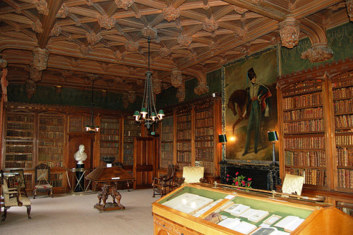 Sir Walter Scott's Library, Abbotsford, Borders, Scotland (via architec)