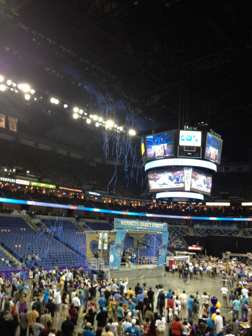 Took this last night at the Nola Arena when the Hornets picked Anthony Davis.