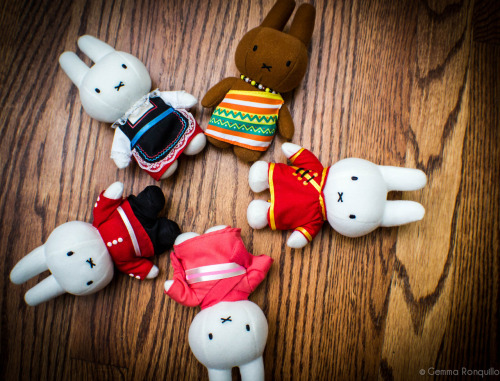 Photo a Day June…Day 25 {Something Cute} My (semi) United Nations of Miffy (in Dutch Nijntje) - all through our Amsterdam trip I was in denial of Miffy until we were at the airport about to leave…at which point, I turned to my bear and asked him to get them for me (lol)