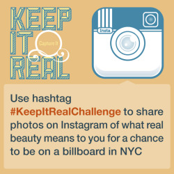 It's Day 3 of the Keep It Real Challenge: share this photo on Instagram to spread the word, then show us what authenticity & beauty mean to you!