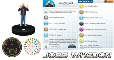 The Joss Whedon Heroclix. Check out its stats. Overwhelmed by its awesomeness. (Promotional image) #JossWhedonIsMyMasterNow