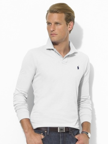 "It's On Sale: RL Long-Sleeve Polos Ralph Lauren is selling their long-sleeve ""Custom Fit"" polos for just $22.46 with the code RLEXTRA25. Custom Fit is the slimmer of RL's styles, though it isn't fashion-slim. Shipping is a flat $5. It's part of a much larger sale."