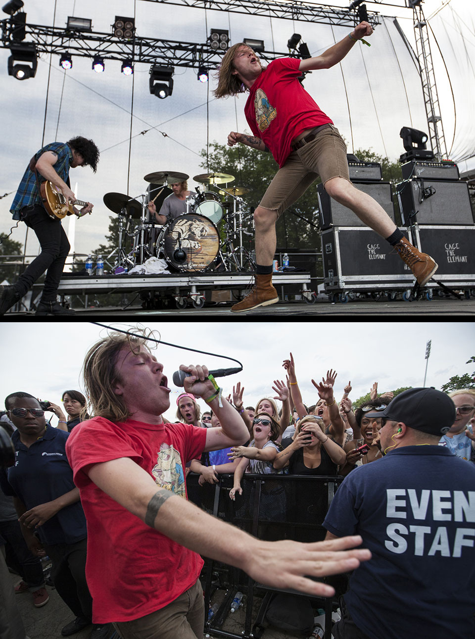 Cage the Elephant - 06/24/12 - Governors Ball - NYC Photo by David Andrako on assignment for SPIN Magazine more at spin.com.