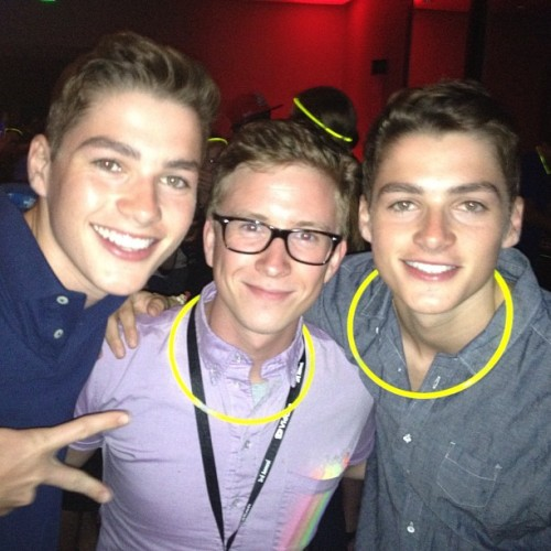 Don't mind me while I completely fangirl over meeting @jacksgap and @finnharries. (Taken with Instagram)