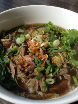 Ain't this a beauty? Duck Noodle Soup from thai food stall in Urban Kitchen, PIext. The noodle was great! Just nice.. not to tough, not too soggy either.. and the broth was awesome! A bit sweet but im okay with it (^∇^)