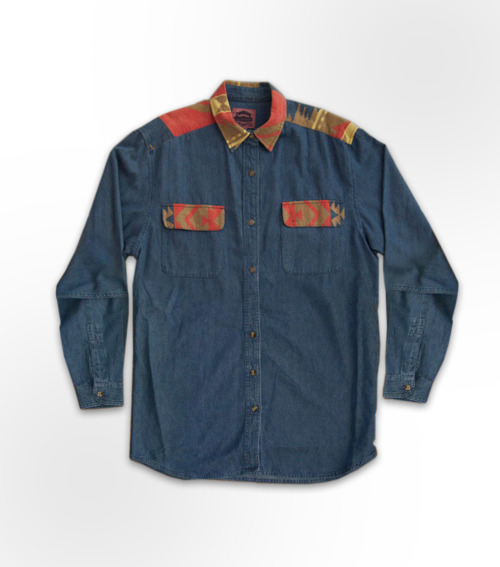 fadashh:  Vintage Denim Navajo button up shirt.