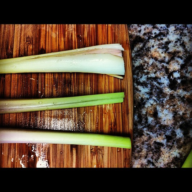 06.28.12 first time adventures with #lemongrass make lemongrass confit! #photooftheday #food #foodporn (Taken with Instagram)